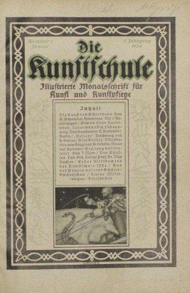 Die KUNSTSCHULE. Ilustrierte Monatschrift fur Kunst und Kunstpflege.