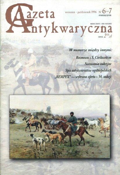 Gazeta Antykwaryczna. [R.1], nr 6-7: wrzesień - październik 1996.