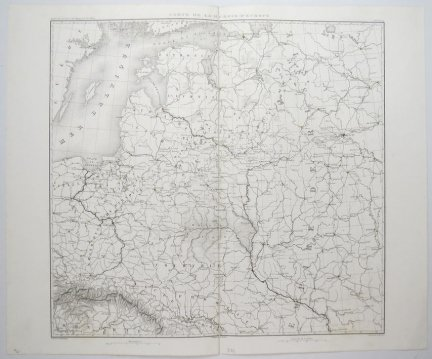 [POLSKA, ROSJA]. Carte de la Russie D'Europee.