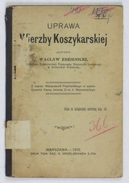 Zdzienicki Wacław - Uprawa wierzby koszykarskiej