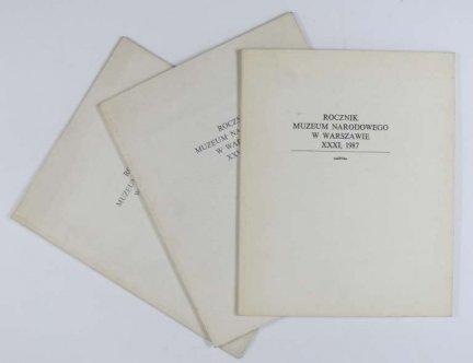Witkiewicz Stanisław Ignacy. Trzy artykuły Ireny Jakimowicz dotyczące życia Witkacego, wydane jako nadbitki z Rocznika Muzeum Narodowego w Warszawie z l. 1984-1987.