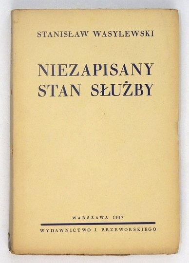 WASYLEWSKI Stanisław - Niezapisany stan służby.