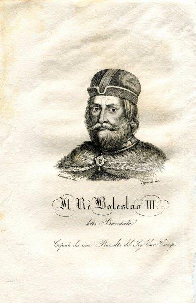 [Bolesław III Krzywousty] Boleslao III detto Boccatorta - miedzioryt 1831