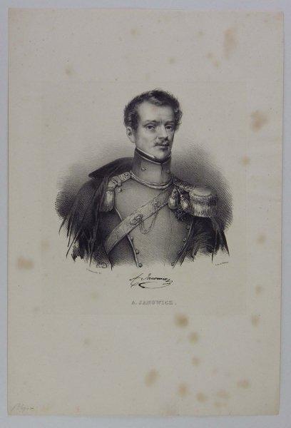 [POWSTANIE LISTOPADOWE] Alojzy Janowicz - portret - litografia [1832]