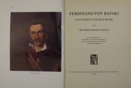 MARÄUSCHLEIN Walter - Ferdinand von Rayski. Sein Leben und sein Werk