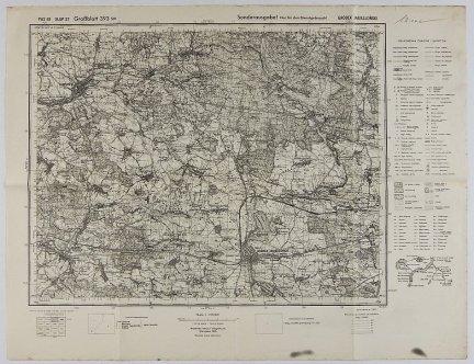 Gródek Jagielloński - mapa 1:100 000 PAS 49 SŁUP 37 [Groddblatt 393 sw]