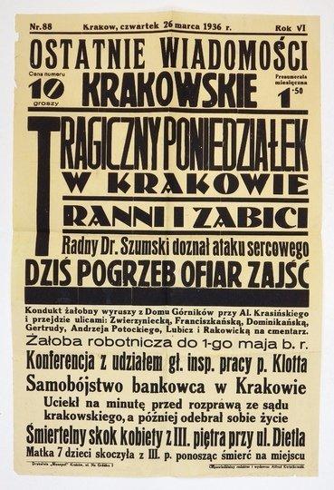 OSTATNIE Wiadomości Krakowskie.