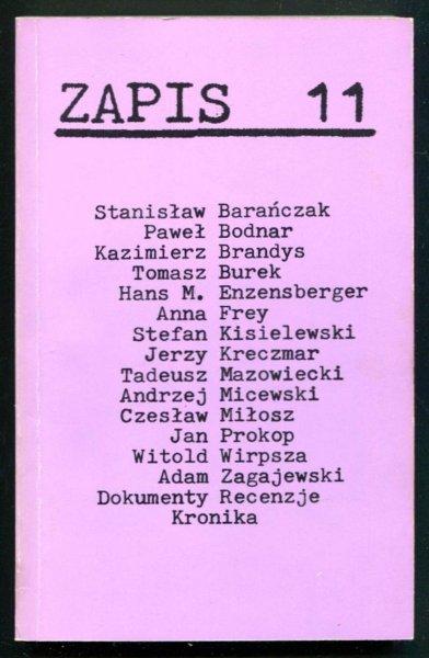 Zapis: poezja, proza, eseje, kronika. [R. 3], nr 11: VII 1979.