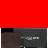 Portfel Skórzany VITTORIA GOTTI Made in Italy Czekolada