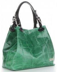 af688d3236e4c Skórzane torebki damskie, torby damskie zamszowe włoskie, ze skóry ...