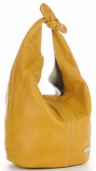 Torebka Skórzana VITTORIA GOTTI Made in Italy Żółta