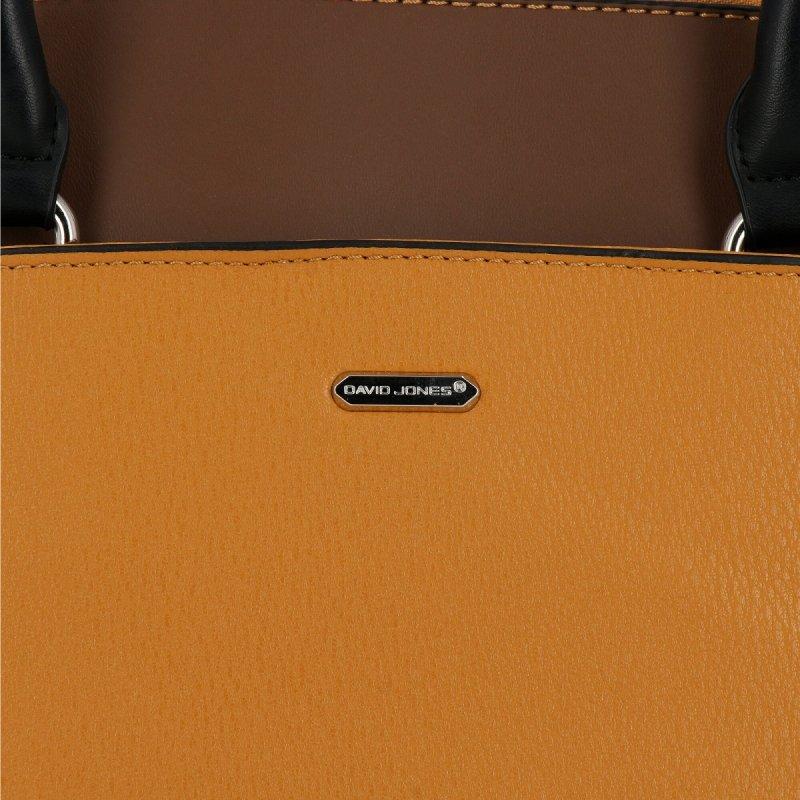 Klasyczna torebka damska David Jones Musztarda