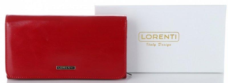dc85b05fed781 Klasyczny i Pojemny Skórzany Portfel Damski firmy Lorenti Czerwony ...