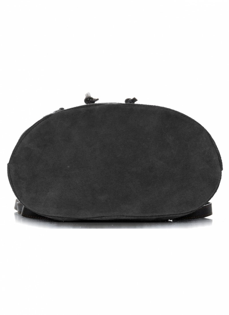 Plecak Skórzany VITTORIA GOTTI Made in Italy Czarna