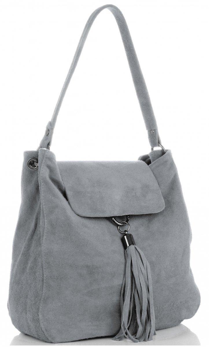 adf3a4b80e29d Skórzane torebki damskie, torby damskie zamszowe włoskie, ze skóry ...