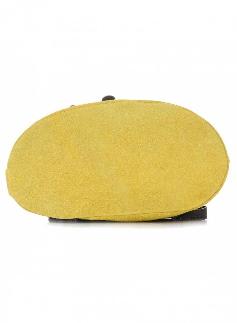 Plecak Skórzany VITTORIA GOTTI Made in Italy Żółta