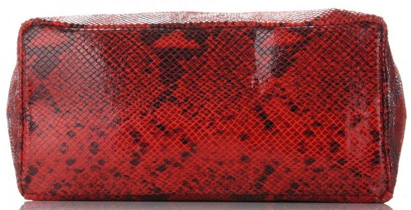 Torebka Skórzana VITTORIA GOTTI Made in Italy Czerwona