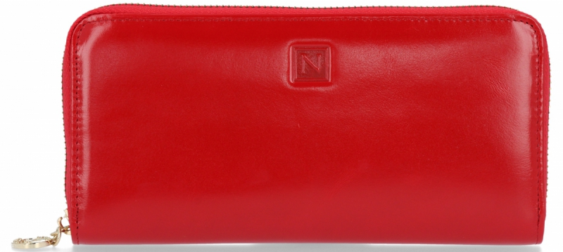 Klasyczny Skórzany Portfel Damski firmy Nicole Czerwony