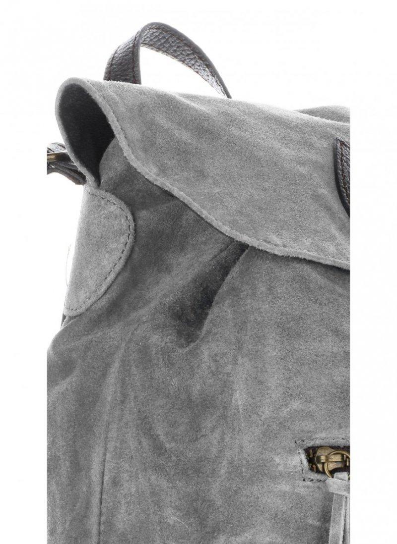 Plecak Skórzany VITTORIA GOTTI Made in Italy Szara