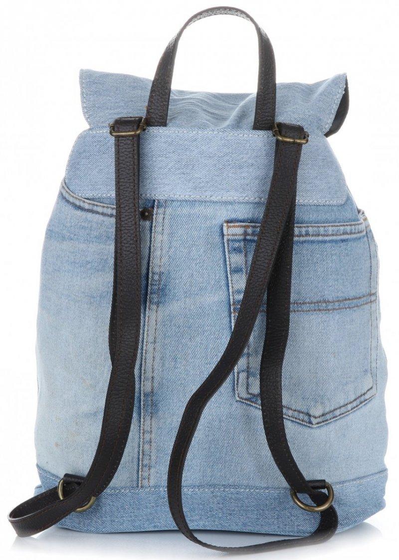 Plecak Jeansowy VITTORIA GOTTI Made in Italy Jeansowa