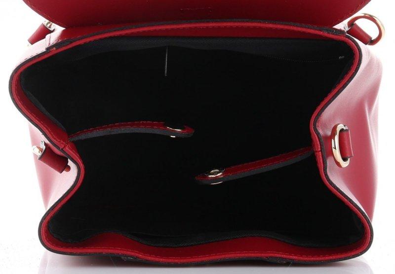 Plecak Skórzany VITTORIA GOTTI Made in Italy Bordowy