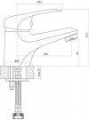 CERSANIT - Bateria umywalkowa stojąca z korkiem AMET Basic S951-041