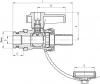 ARMATURA KRAKÓW -zawór wodny, spustowy ze złączką, zaślepką i z dźwignią 705-010-15