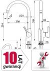 ARMATURA KRAKÓW - ANGELIT bateria zlewozmywakowa 6713-915-00