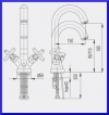 ARMATURA KRAKÓW - SYMETRIC bateria umywalkowa 342-315-00