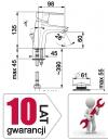 ARMATURA KRAKÓW - Bateria jednouchwytowa umywalkowa stojąca GERMAN 4512-815-00