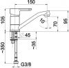 ARMATURA KRAKÓW - bateria umywalkowa stojąca GRANAT 5522-915-00