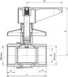 ARMATURA KRAKÓW - zawór wodny, podtynkowy, przepływowy, nakrętno-nakrętny 706-010-20