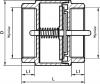 ARMATURA KRAKÓW - zawór zwrotny do wody z mosiężnym grzybkiem 710-010-80