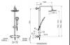 ARMATURA KRAKÓW - Zestaw natryskowy deszczownia LUNA + BATERIA TERMOSTATYCZNA 5716-910-00
