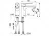 ARMATURA KRAKÓW - TANZANIT bateria umywalkowa 5022-815-00