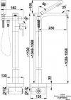 ARMATURA KRAKÓW - CASSINI bateria wannowa wolnostojąca 4125-510-00
