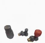 VARIOTERM ELEGANT ELGS0205 C/FK Dekoracyjny zestaw termostatyczny kątowy (zawory +głowica)