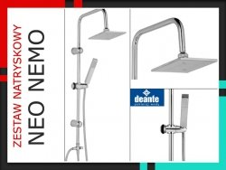DEANTE - Zestaw natryskowy + Deszczownica Neo NEMO NBN-051K