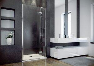 BESCO - Drzwi prysznicowe ze ścianką pojedyncze otwierane VIVA 100x195