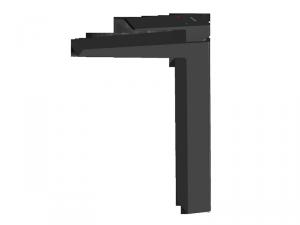 VEDO - bateria SETTE NERO umywalkowa wysoka VBS7003CZ
