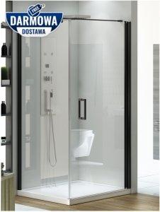 New Trendy - Kabina prysznicowa kwadratowa NEGRA drzwi pojedyncze / Linia Platinium