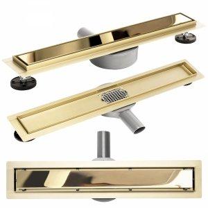 REA - Odpływ liniowy Rea Pure Neo Mirror Gold Pro / Złoty Lustrzany 700mm