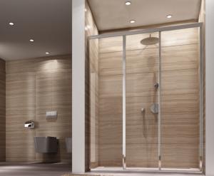 REA - Drzwi prysznicowe przesuwne ALEX 100cm