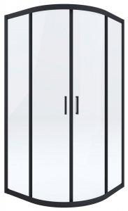 DEANTE - Kabina FUNKIA 90x90 Nero półokrągła  KYP_N51K
