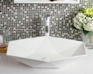 REA - Umywalka nablatowa VEGAS biała