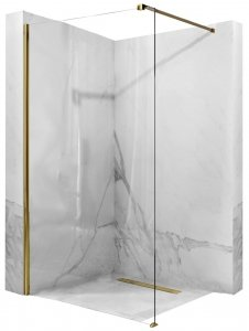 REA - Ścianka prysznicowa AERO GOLD Złota Walk In 120