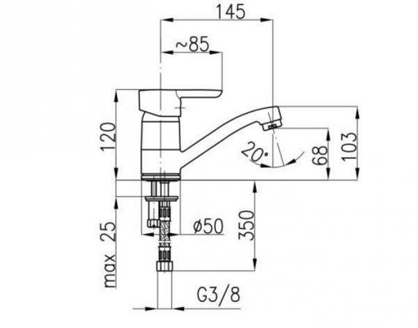 ARMATURA KRAKÓW - Bazalt Bateria jednouchwytowa, umywalkowa 4702-915-00