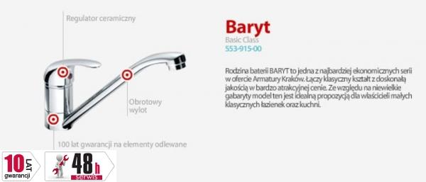 ARMATURA KRAKÓW - BARYT Bateria umywalkowa stojąca 552-815-00