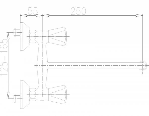ARMATURA KRAKÓW - Ceramik Bateria dwuuchwytowa, zlewozmywakowa 330-610-00