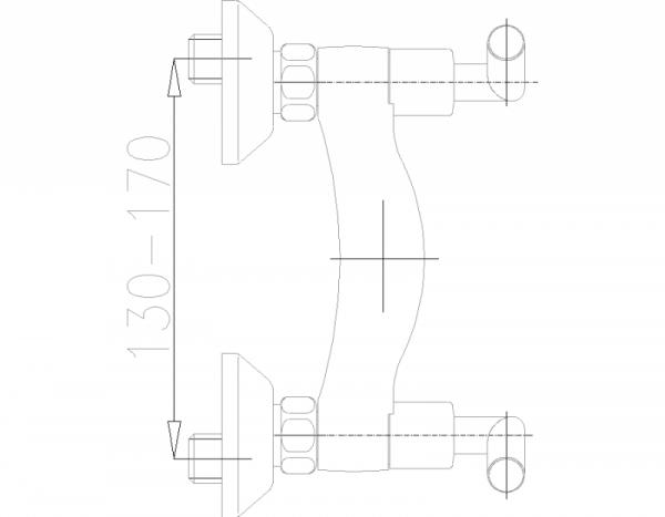 ARMATURA KRAKÓW - Harmonic natryskowa ścienna 346-020-00